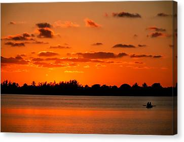 Row Boat Canvas Print - Yesterday by Karen Wiles
