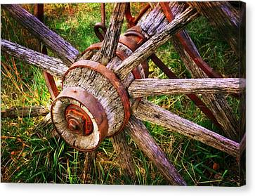 Yesterday's Wheel Canvas Print by Marty Koch