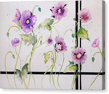 Loose Watercolor Canvas Print - Yin And Yang by Laura Lee Zanghetti