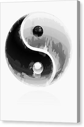 Opposing Forces Canvas Print - Yin Yang 2 by Daniel Hagerman