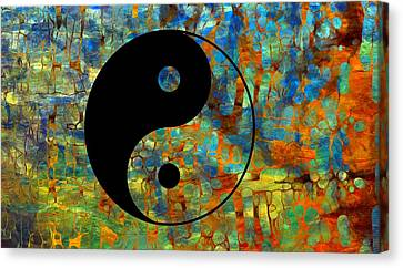 Yin Yang Abstract Canvas Print by Dan Sproul
