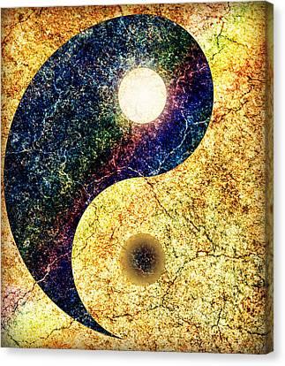 Yin Yang Canvas Print by Ally  White