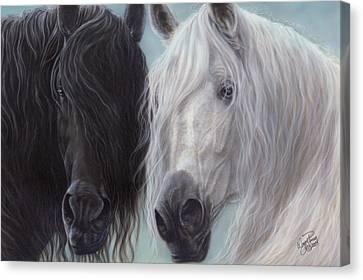 Yin-yang Horses  Canvas Print by Wayne Pruse