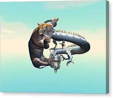 Yin Yang Canvas Print by Michele Wilson