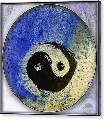 Yin Yang Painting Canvas Print by Peter v Quenter