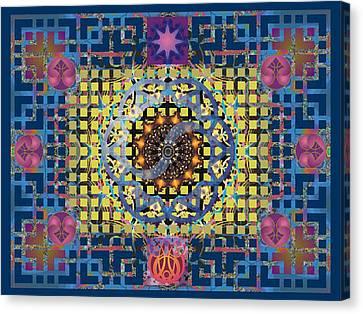 Yin Yang Star Canvas Print