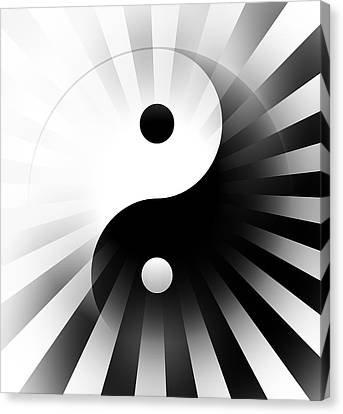 Opposing Forces Canvas Print - Yin Yang Power by Daniel Hagerman