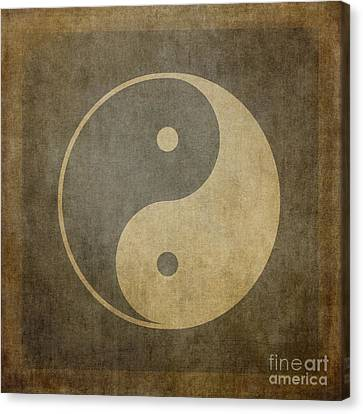 Peace Canvas Print - Yin Yang Vintage by Jane Rix