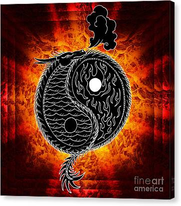 Ying And Yang Canvas Print by Robert Ball