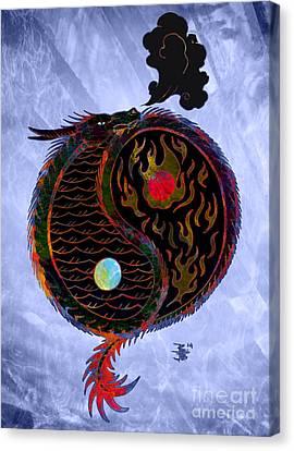 Ying Yang Dragon Canvas Print by Robert Ball