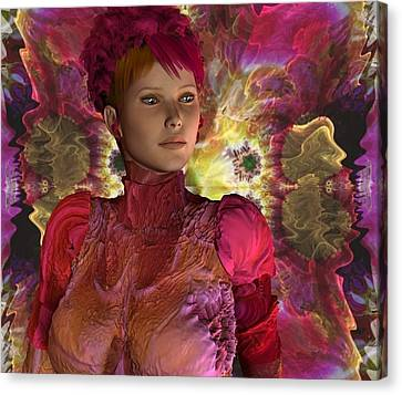 Ynneva With Fractal Canvas Print