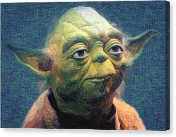 Yoda Canvas Print by Taylan Apukovska