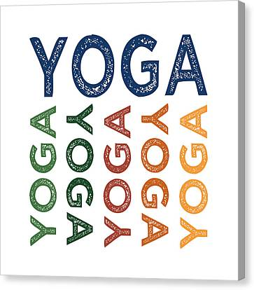 Yoga Cute Colorful Canvas Print by Flo Karp