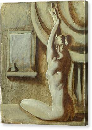 Yoga Girl Canvas Print by Luis  Navarro
