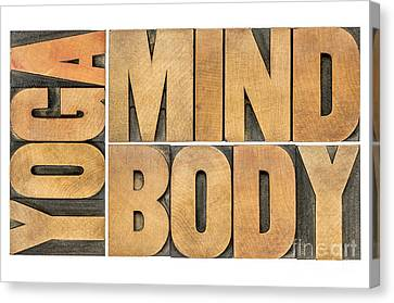 Yoga Mind And Body  Canvas Print