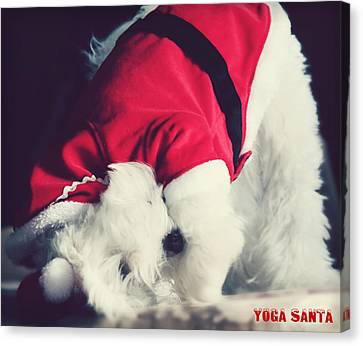 Yoga Santa Canvas Print by Melanie Lankford Photography