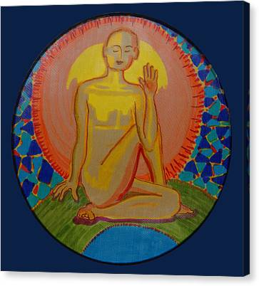 Yoga Seated Twist Canvas Print by Peg Toliver