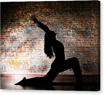 Yoga Silhouette 2 Canvas Print by Shannon Beck-Coatney