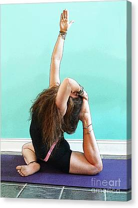 Yoga Study 3 Canvas Print by Sally Simon