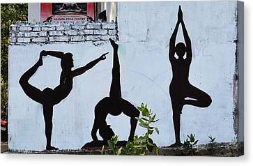 Scenery Canvas Print - Yoga Wall Art - Rishikesh India by Kim Bemis