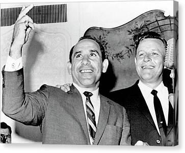 Yogi Berra Yankee Manager Canvas Print by Underwood Archives
