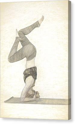 Yogi In Yoga Meditation Woman Canvas Print by David Haskett
