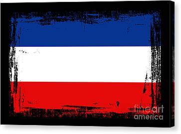 Beautiful Yogoslavia Flag Canvas Print
