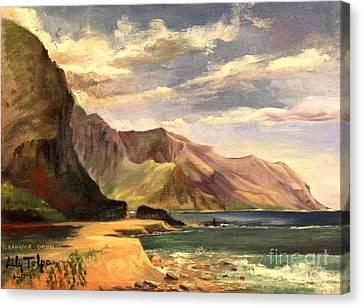 Yokahama Bay Oahu Hawaii - 1960's Canvas Print