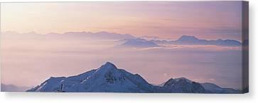 Yokoteyama Shiga Kogen Nagano Japan Canvas Print by Panoramic Images