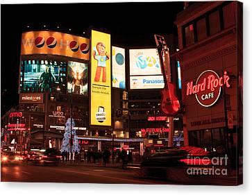 Yonge-dundas Square At Night Canvas Print