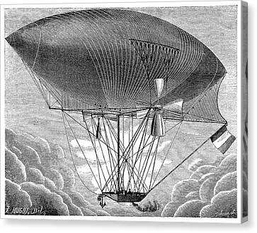 Yon's Steam Airship Design Canvas Print by Science Photo Library