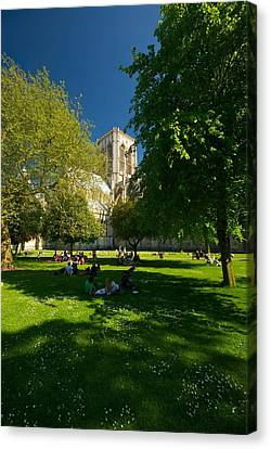 Canvas Print featuring the photograph York Minster by Stephen Taylor