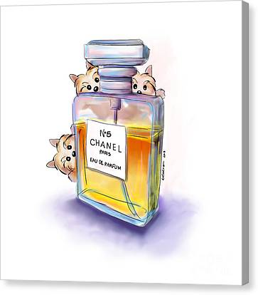 Yorkie Chanel Crazies Canvas Print