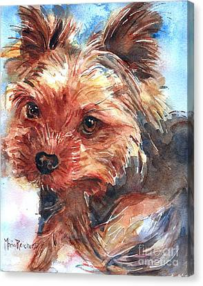 Yorkshire Terrier Canvas Print by Maria's Watercolor