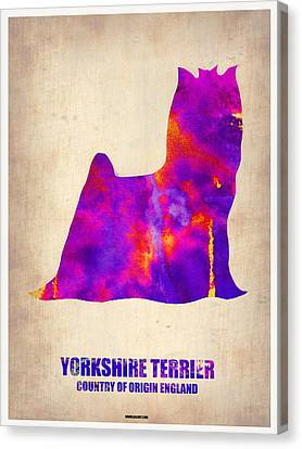 Yorkshire Terrier Poster Canvas Print by Naxart Studio