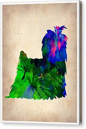 Yorkshire Terrier Watercolr Canvas Print by Naxart Studio