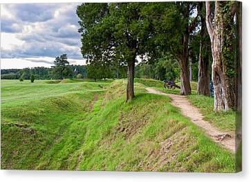 American Independance Canvas Print - Yorktown Battlefield Earthworks by John M Bailey