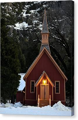 Yosemite Chapel Canvas Print