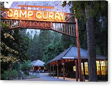 Yosemite National Park Canvas Print - Yosemite Curry Village by Shane Kelly