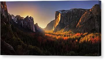 Yosemite Firefall Canvas Print