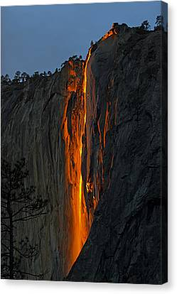 Yosemite Horsetail Falls Canvas Print