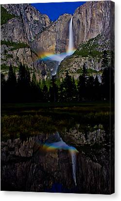 Yosemite Moonbow Canvas Print by John McGraw