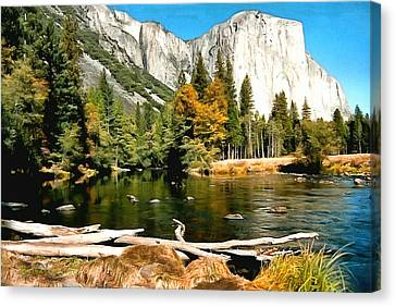 Half Dome Yosemite National Park Canvas Print by Barbara Snyder