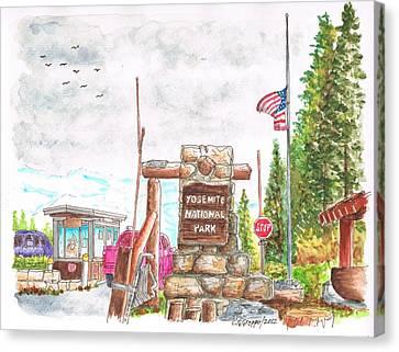 Yosemite National Park Ca-tioga Pass Entrance Canvas Print