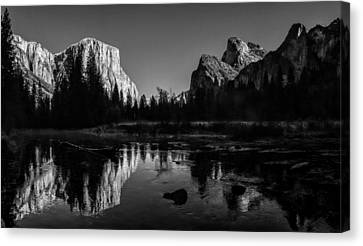 Yosemite National Park Valley View Winterscape Canvas Print by Scott McGuire