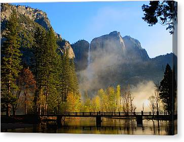 Yosemite River Mist Canvas Print