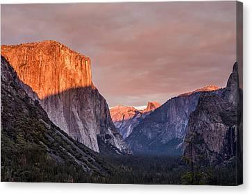 Yosemite Sunset Canvas Print by Justin Matoi