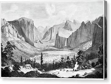 Yosemite Valley, 1855 Canvas Print