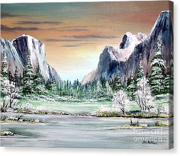 Yosemite Valley Artist Point Canvas Print by Bill Holkham