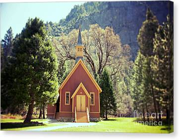 Christian Canvas Print - Yosemite Valley Chapel Lomo by Jane Rix
